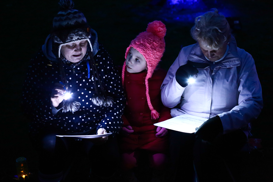 storytellers reading the Tin Forest