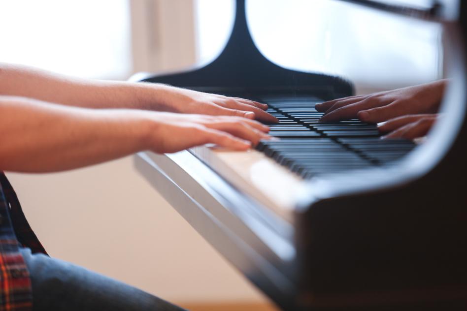 piano at community choir