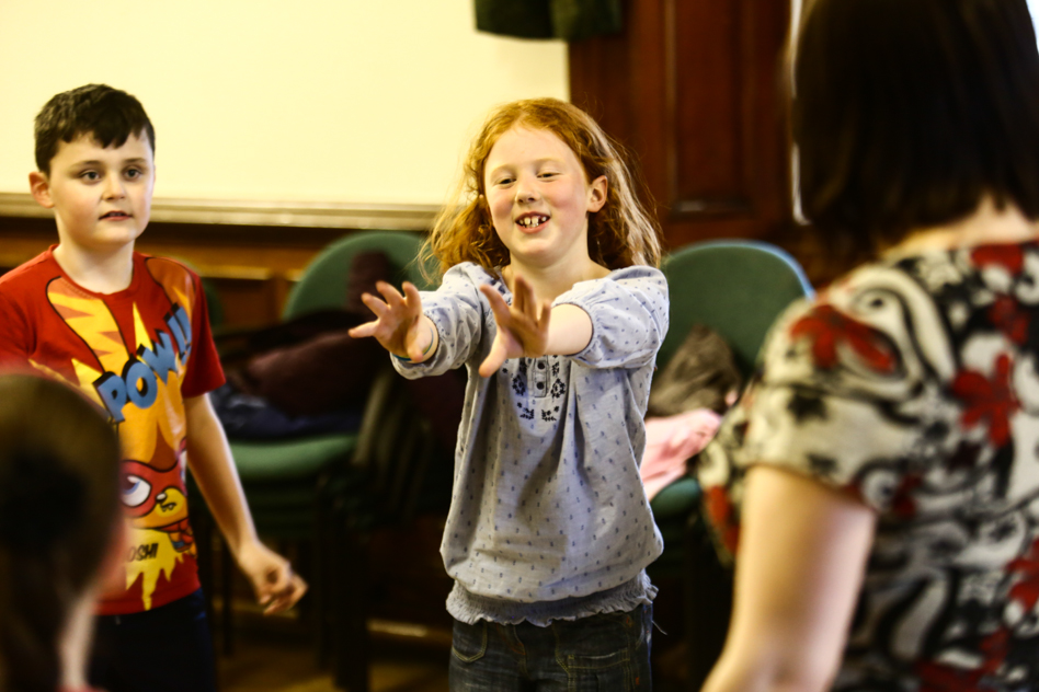 children at acting class