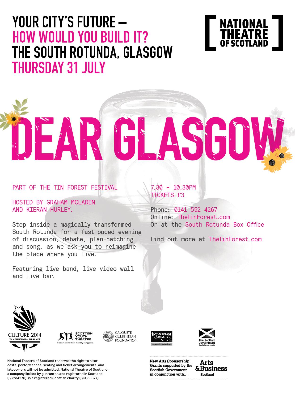 Dear Glasgow Web Flyer