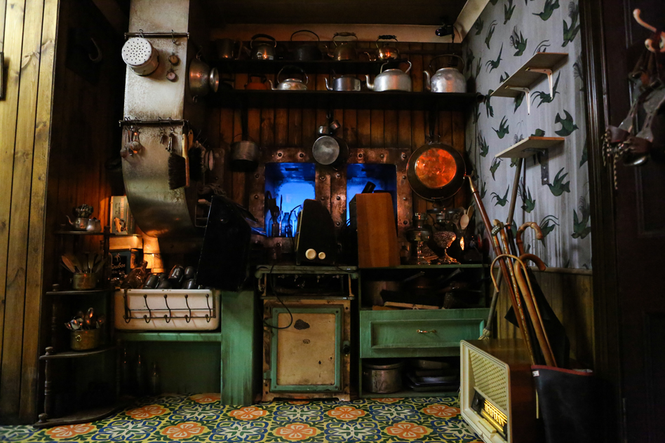 A tenement kitchen