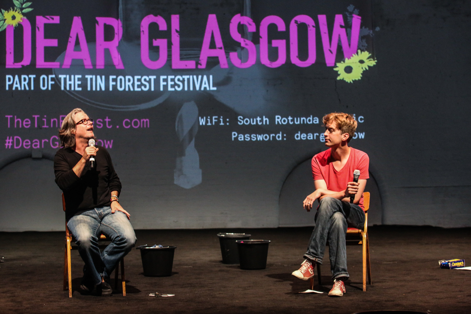 Graham McLaren and Keiran Hurley at Dear Glasgow